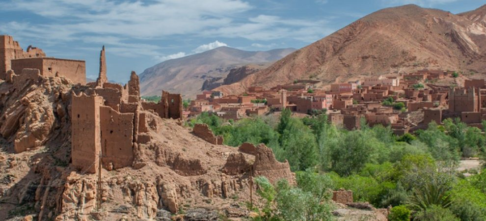 Beautiful Moroccan Kasbah. Trekking in the High Atlas with Trek In Morocco.