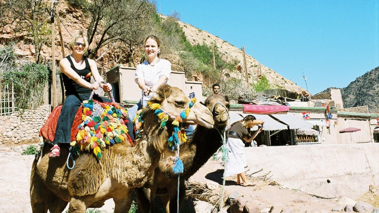Trekking in Morocco with Camels.